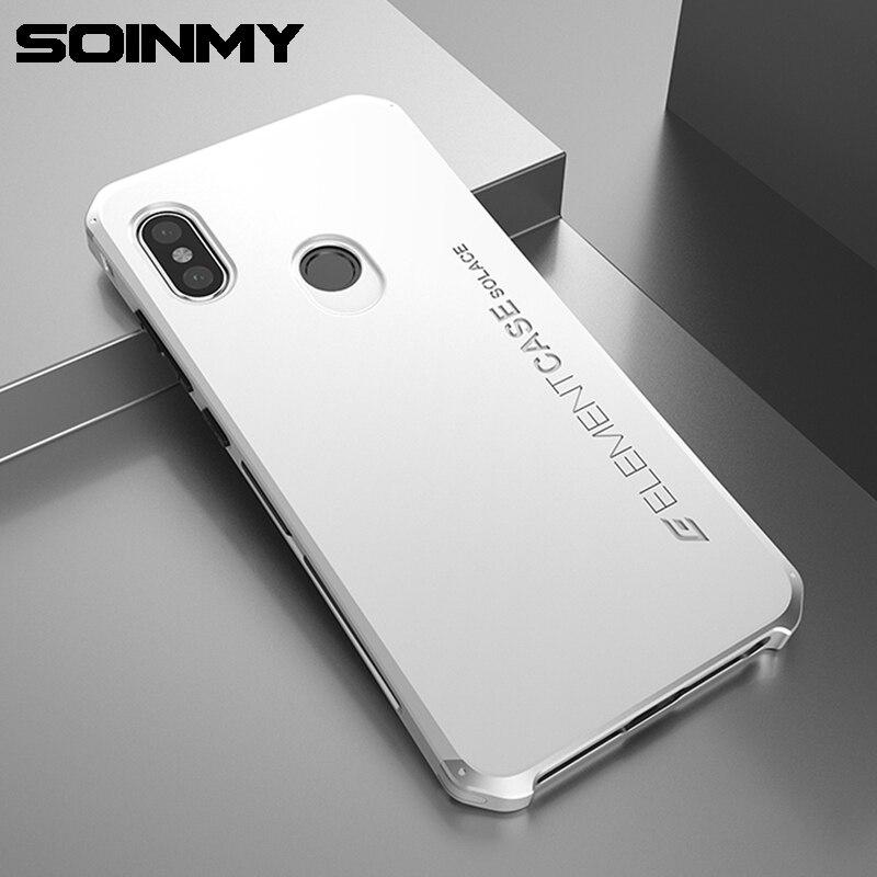 Soinmy Redmi hinweis 5 Fall Stoßfest Rüstung Aluminium Metallrahmen Harte PC Telefon Fall Für Xiaomi Redmi Hinweis 5 pro abdeckung Note5 Fundas