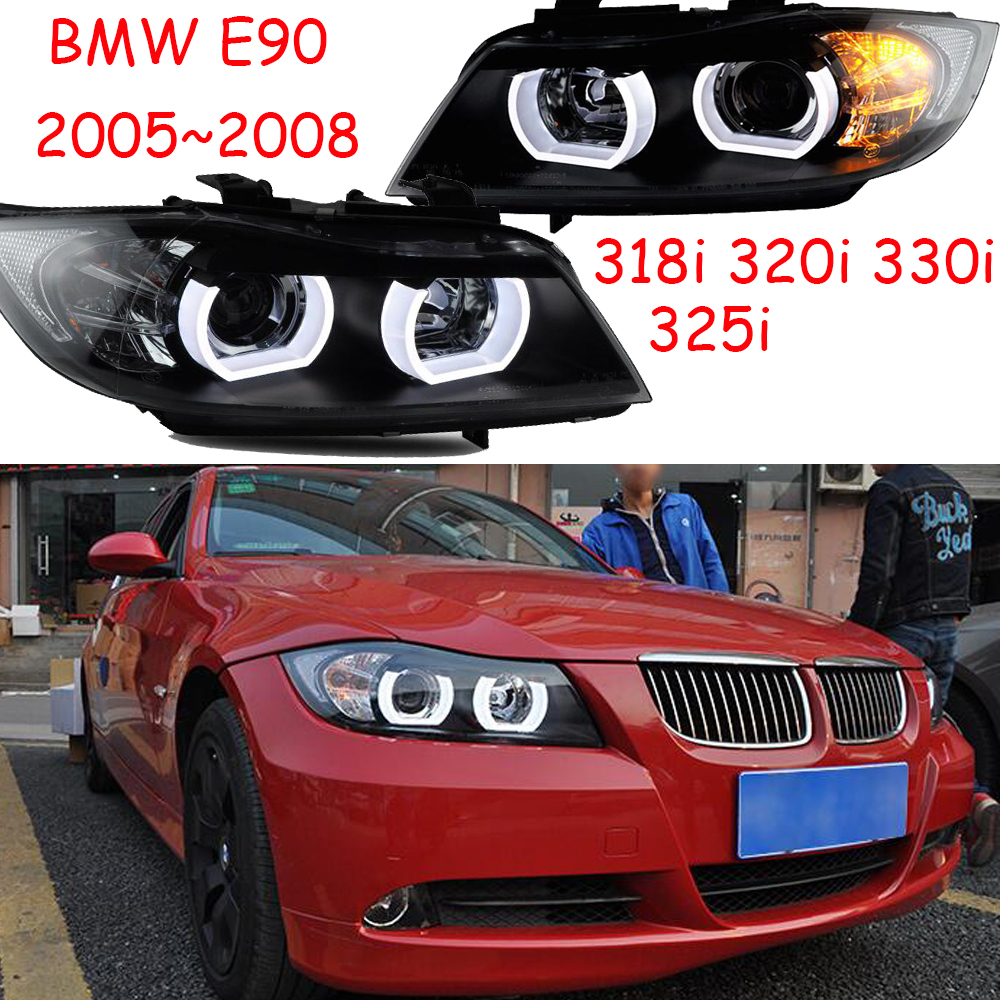2pcs Car Styling For E90 Headlight 2005~2008year,318i 320i 330i 325i Head Lamp Auto LED DRL Hi/lo Beam HID Xenon Bi Xenon Lens