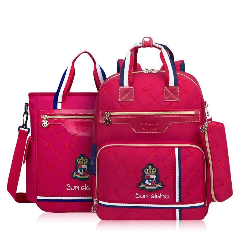 ФОТО New 2017 School Backpack School bags For Boys/girl  Waterproof Backpack Child Kids School bag For New Term