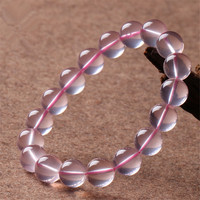 11mm Wholesale Natural Star Lights Quartz Crystal Round Beads Bracelets For Women Femme Charm Stretch Bracelet Popular Crystal