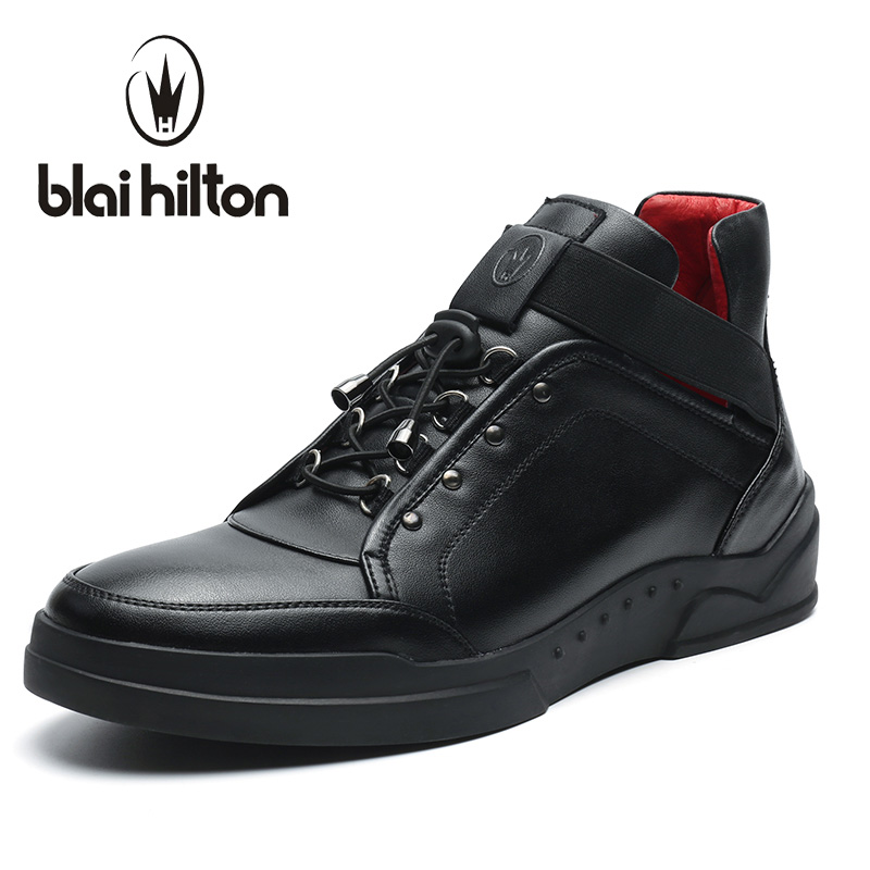 Blaibilton 2017 Men Shoes Fashion High Top Quality PU Personality Letter Platform Mens Shoes Casual Designer Black Blue SD6117 gram epos men casual shoes top quality men high top shoes fashion breathable hip hop shoes men red black white chaussure hommre