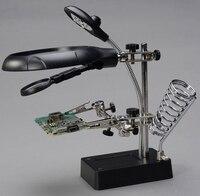 Magnifying Glass 2015 Hot Good Quality Third Hand Multifunction 2 5X 7 5X 10X Desk