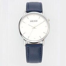 Envío gratis Estudiantes Niñas niños Reloj Kezzi k1521 Análogo de Cuarzo Vestido Relojes de pulsera de Moda de Cuero Ocasional del relogio Impermeable
