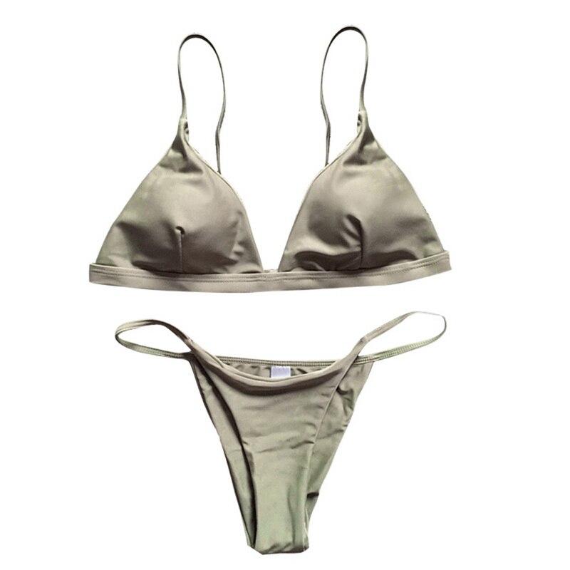 HTB1laAunKuSBuNjSsplq6ze8pXad 2019 Women Micro Bikini set Push Up Swimwear Solid Beach Bathing Suit Brazilian Thong Swimsuit For Girls Bikini Swim Suit femme