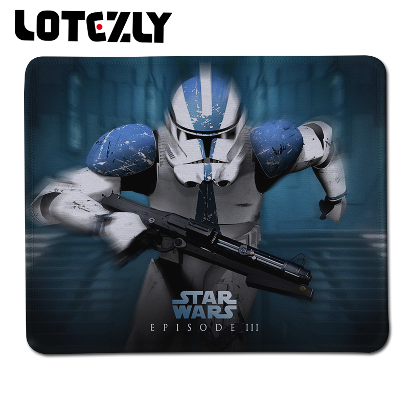 Professional 1 Pcs Star Wars Stitched Edge Rubber Mouse Pad 250*210*2mm Gaming Mouse Mat Mousepad for Game Player