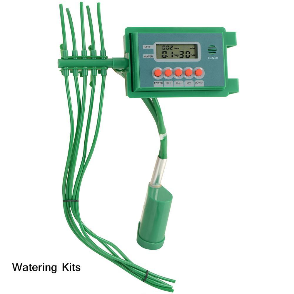 Садовый автоматический насос капельного орошения Полив наборы системы спринклер с умным контроллером таймер воды для бонсай, завод# 22018A - Цвет: Watering kits