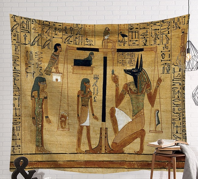 Image 3 - CAMMITEVER Vintage Egypt Time Wall Hanging People Bed Sheets Decorative Tapestry Mystery Art Beach Mat 130x150cm 150x200cm-in Tapestry from Home & Garden