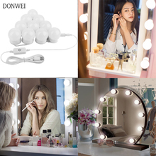 10 lampe Hollywood Led Make-Up Spiegel Licht USB Lade Eitelkeit Make-Up-Spiegel Licht Helligkeit dimmbar Kosmetische Spiegel