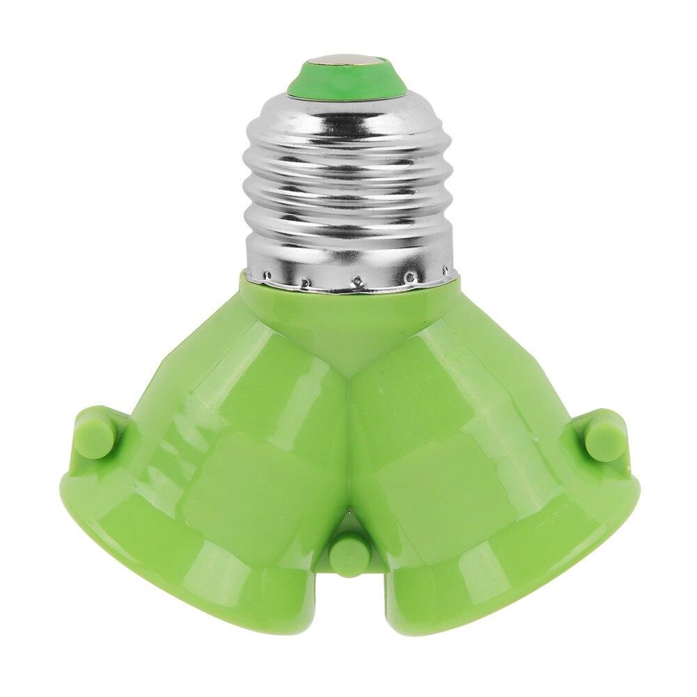 2 в 1 E27 патрон лампы E27 патрон лампы сплиттер адаптер светильник база для светодиодный лампы - Цвет: F
