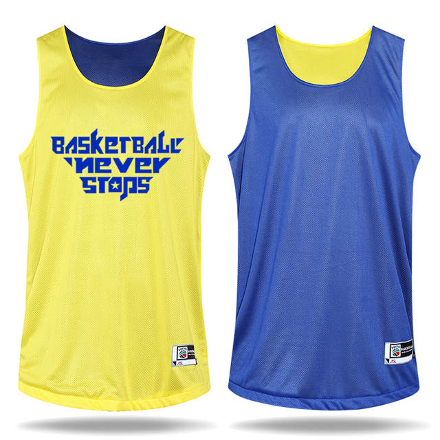 ed4706edc Men s Both Sides Basketball Jersey Uniforms Clothes Custom Reversible  Basketball Game Training Suit Set (Jerseys