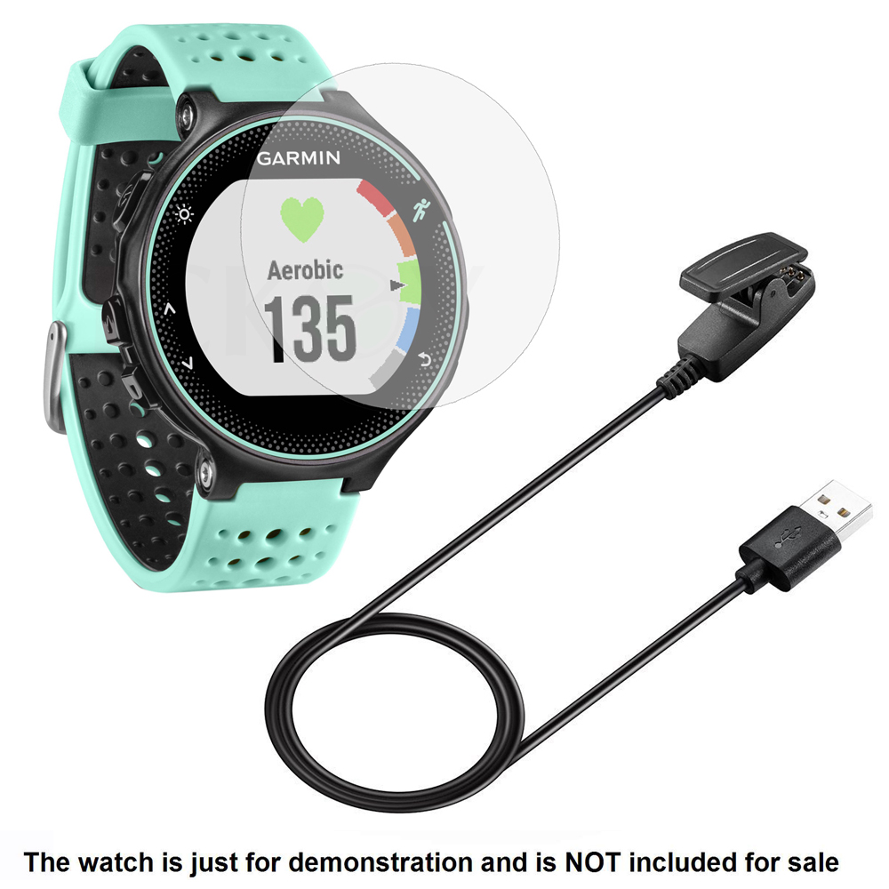 USB Charging Cable Charger Cables + Screen Protector Shield Film For Garmin Forerunner 235 Forerunner235 Smart Watch Accessories