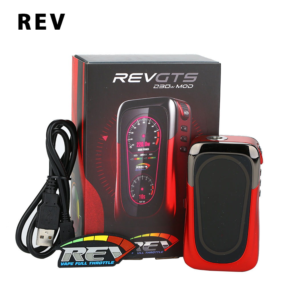 Original REV GTS 230W TC Box MOD 230W Huge Power Supreme HD Screen Various Vaping Modes E-cigarette REV GTS MOD vs G-priv Mod 10pcs sweet diy boutique bow headbands elastic head band children girl hair accessories headwear wholesale