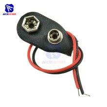 10 шт./лот защелки на 9 в держатель батареи зажим разъем жесткий корпус 10 см кабельный провод
