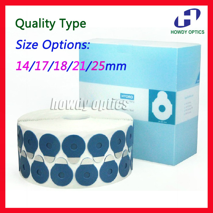Quality Optical Eyeglasses lens edging adhesive blocking pad accessories Size 14 17 18 21 24mm 1000pcs