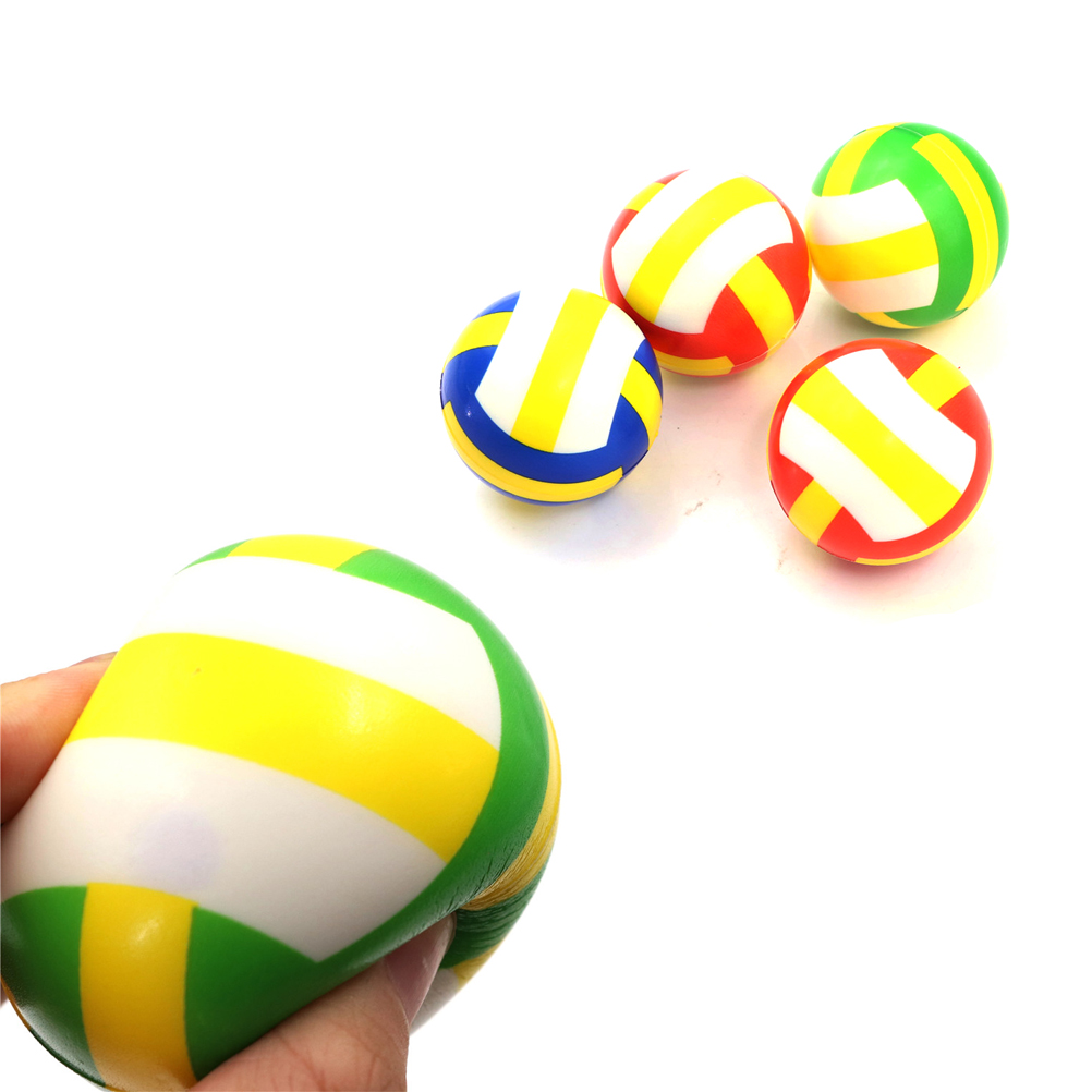 1Pc Hand Wrist Exercise Stress Relief Squeeze Soft Foam Ball Toy Kids Outdoor Toy Volleyball shape
