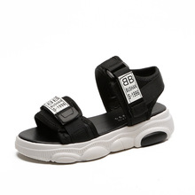 Summer sandals girls students Korean version of the wild non-slip older children comfortable thick sole bear shoes