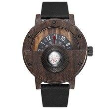 Unique Wood Watch Men Women Fashion Quartz Clock Compass Hal