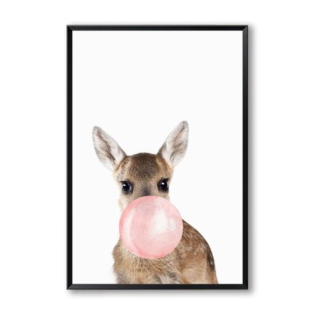 jiuyaomai Dessin Anim/é Skateboard Stickers Muraux Amant des Animaux D/écoration de La Maison Accessoires pour Chambres De B/éb/é Style Nordique D/écoration de La Maison 4 43 cm X 56 cm