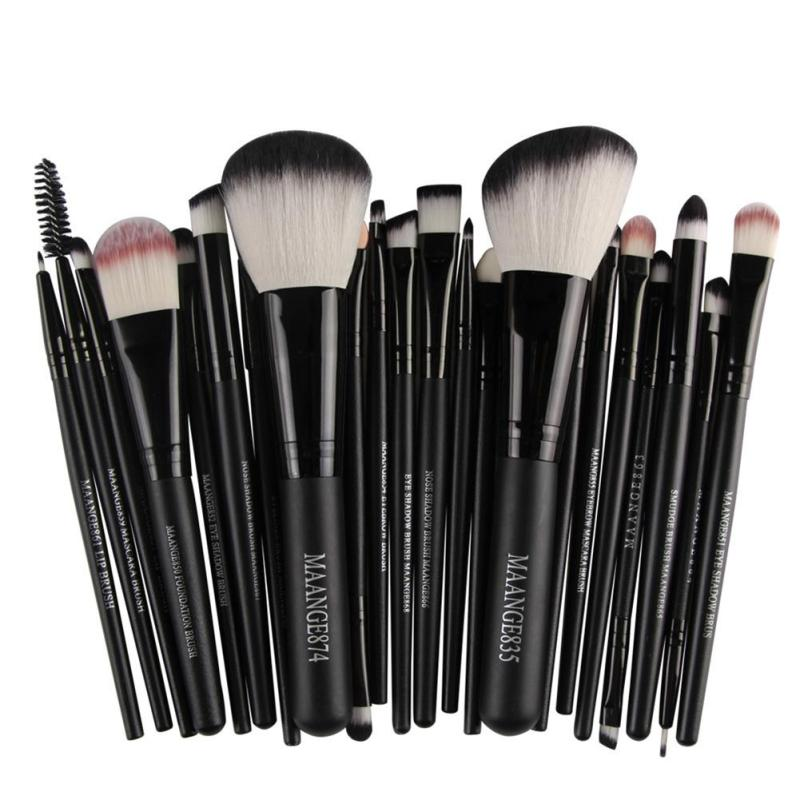 MAANGE 22Pcs Cosmetic Makeup Brushes Set Blush Powder Foundation Eyeshadow Eyeliner Lip Make up Brush Beauty Tools Maquiagem ye3 new 32 pcs makeup brush set powder foundation eyeshadow eyeliner lip cosmetic brushes kit beauty tools fm88