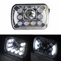 On Sale2pcs 55W sealed beam 7inch rectangle 5 X 7 7x6 truck replacement Headlights high/low beam for van Lorry off-road vehicles