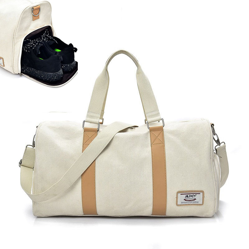 Independent Shose Gym Bags Women Occident Style Canvas Fitness Crossbody Bag Men Outdoor Sport Training Travel Storage XA338WA outdoor washed canvas sport gym bags multi function handbag single shoulder bag men travel independent shoes duffle bags
