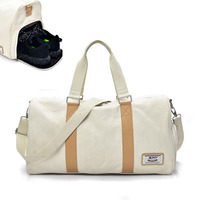 Independent Shose Gym Bags Women Occident Style Canvas Fitness Crossbody Bag Men Outdoor Sport Training Travel