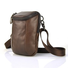 Genuine Leather Men Bag Small Shoulder Bags Messenger Crossbody Mens Women Handbag Free Shipping Fanny Belt Waist Purse