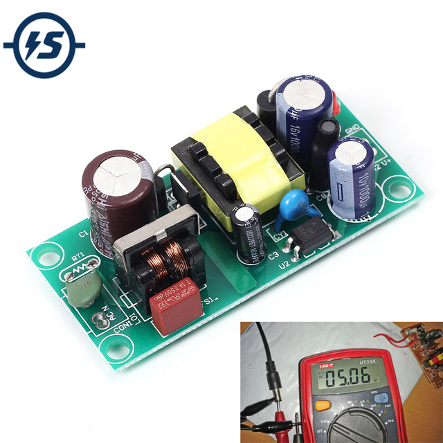 US $2 69 |5V 2A AC DC Switching Power Module Isolated Power 220V to 5V  Switch Step Down Buck Converter Bare Circuit Board-in Integrated Circuits  from