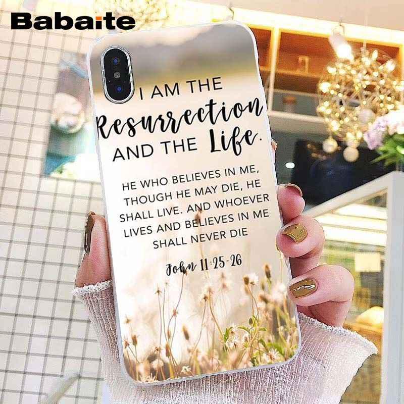 Babaite verset de Bible philippiens jésus chrétien étui de téléphone pour iphone 11 Pro 11Pro Max 5 5Sx 6 7 7plus 8 8plus X XS MAX XR
