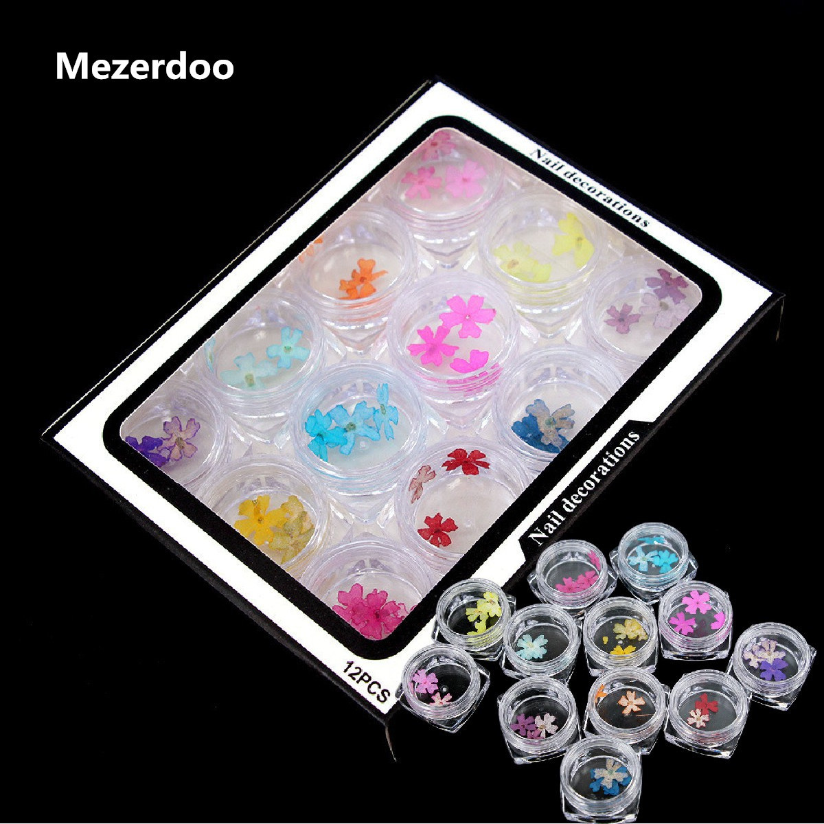 12 Boxes Small Beauty Cherry Blossom Nail Dried Flowers Decorations 36pcs Natural UV Gel Polish Tips Manicure Art пуф dreambag круг cherry