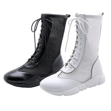 Summer Tennis Shoes Women Oxfords Lace Up Wedges Platform Roman Gladiator Sandals Med Heel Punk Pumps Casual Goth Creepers
