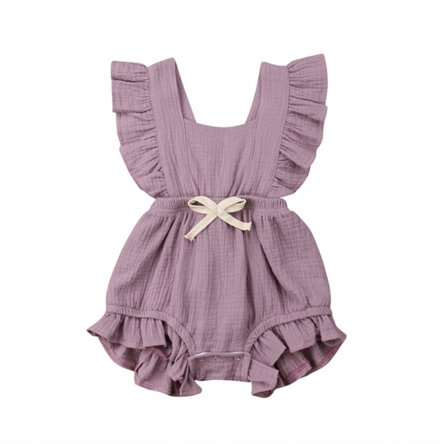 Newborn Baby Girl Boy Summer Ruffle PP Cotton Rompers Hot play Party Gift Kids Jumpsuit Outfits
