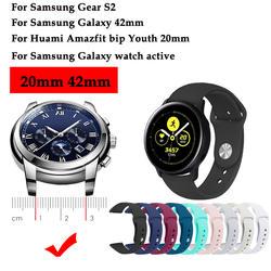 Оригинальные часы группа для samsung Galaxy Watch active силиконовый ремешок для спортивных часов часы ремешок для samsung Galaxy 42 мм/Шестерни S2 ремешок