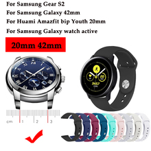 Original Watch band For Samsung Galaxy watch active silicone sport strap 42mm /Gear S2