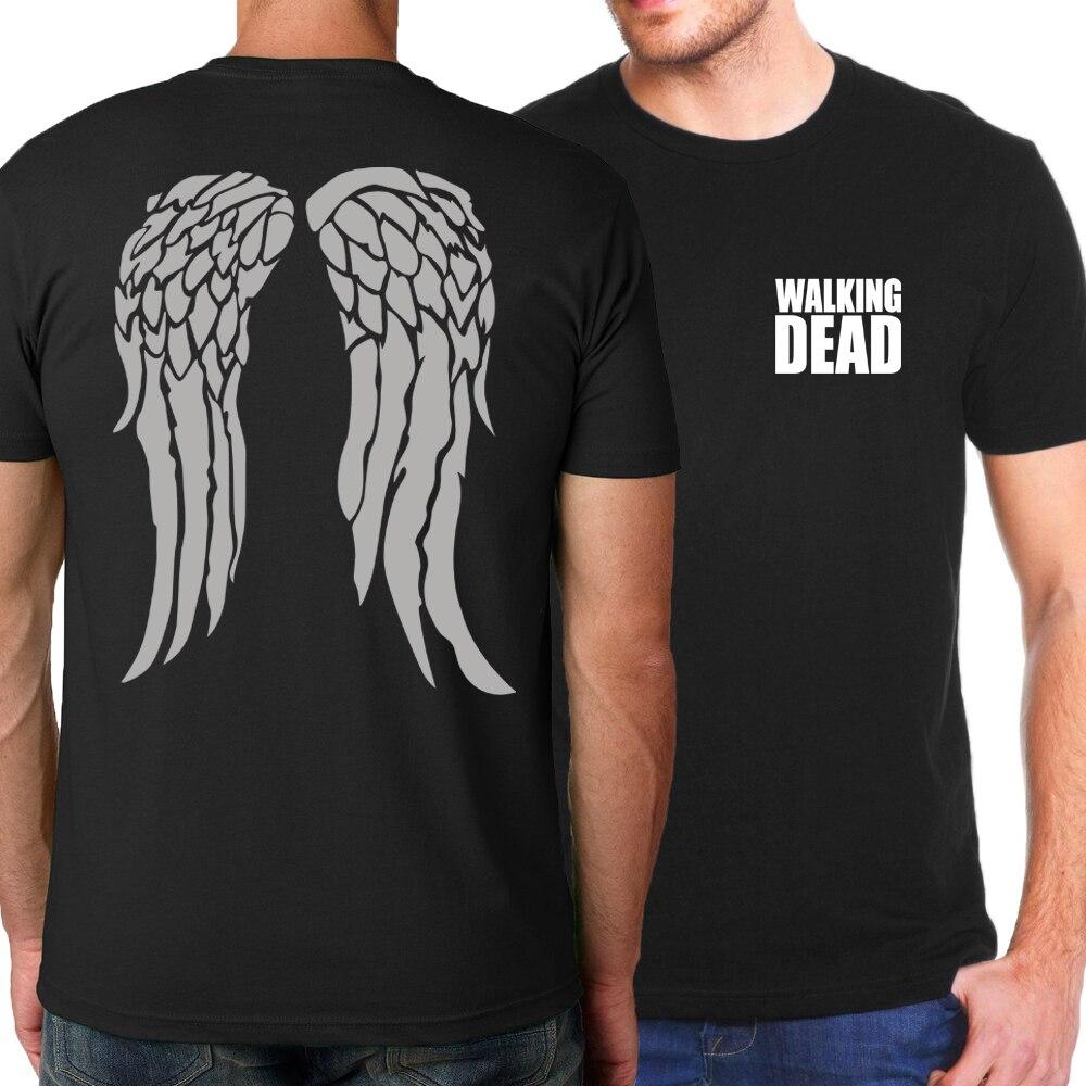 Hot The Walking Dead Men T-Shirts 2019 Summer 100% Cotton T Shirt Hip Hop Fashion Men Tops Tees Hipster Tees Brand-Clothing