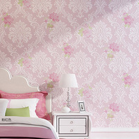 European 3D Non woven Wallpaper for Living Room Dining Room Background Wall Warm Pastoral Kidswallpape
