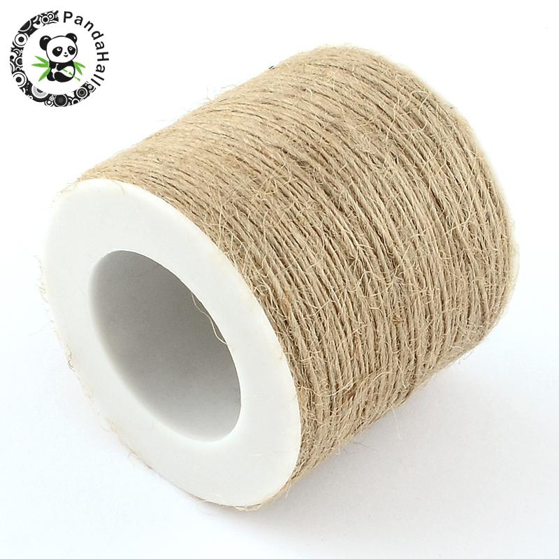 1mm Hemp Cord Twine String 1 Ply Cords Thread for Jewelry Making accessories, Tan Color,about 100m/roll F60 image