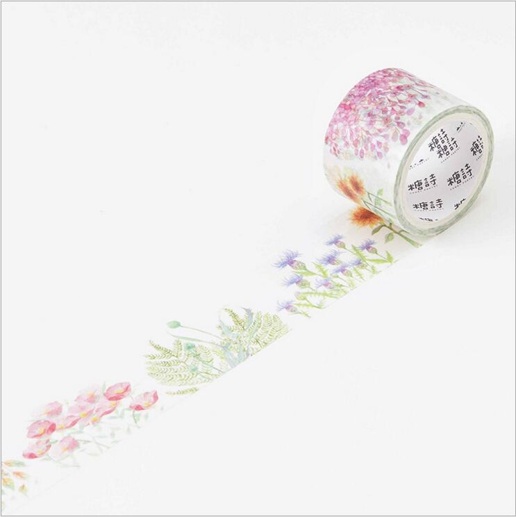 30mm Wide Time Between Flowers Blossoming and Fall Decoration Washi Tape DIY Planner Diary Scrapbooking Sticker Masking Tape