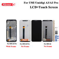 Alesser For UMI Umidigi A3 LCD Display and Touch Screen Assembly Repair Parts With Tools For UMI Umidigi A3 Pro LCD With Frame