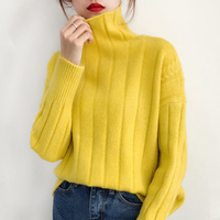 head, autumn and winter, 2018 new styles, sluggish wind, long sleeves loose Korean knitted Jersey.