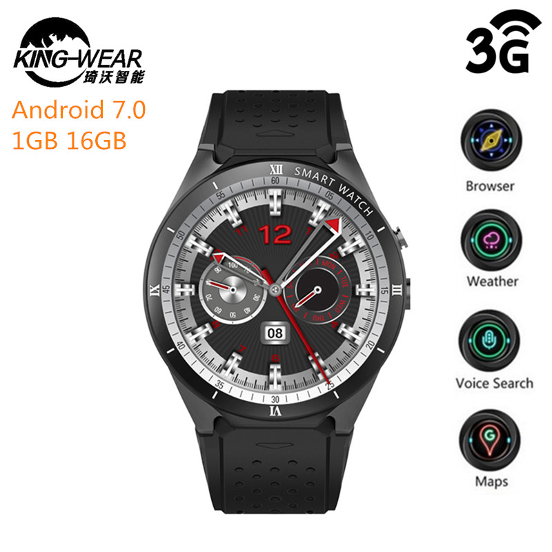 KingWear KW88 Pro 3G Smartwatch Phone Android 7.0 Quad Core 1.3GHz 1GB 16GB Bluetooth 4.0 Smart Watch Phone GPS Wearable DevicesKingWear KW88 Pro 3G Smartwatch Phone Android 7.0 Quad Core 1.3GHz 1GB 16GB Bluetooth 4.0 Smart Watch Phone GPS Wearable Devices