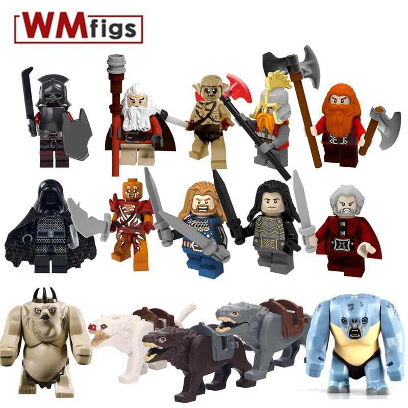The Lord of the Rings Orc Fili Ironfoot Dain Goblin Dori Uruk-hai ยุคกลาง Skeleton Horse Building Block ของเล่นสำหรับเด็ก