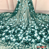 3d African Beads Simple Nigerian Dress Designs Wedding Lace Gown Customised Bridal Fabric Embroidered QF2113B 7