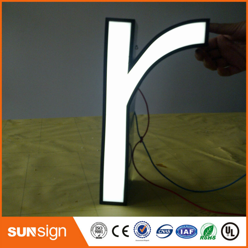 Custom Brushed Stainless Steel Led Letters