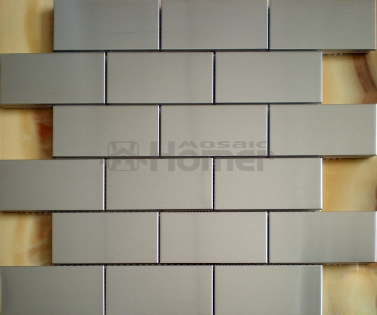 Silver Color Metal Jali Pattern : Free shipping mm stainless steel metal mosaic tile