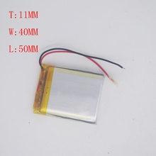 Batterie au Lithium polymère 3.7V, 114050 mAh, Module de Microphone, Navigation GPS, haut-parleur, batterie 2800