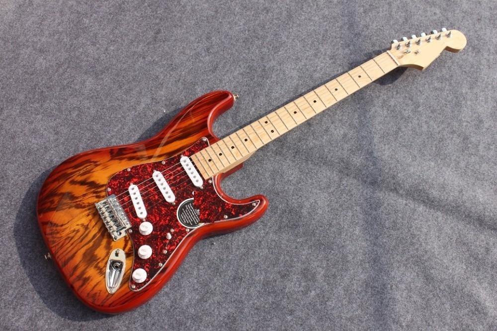 Burned ash wood body ST Electric guitar Guitarra All color Available ash wood body matt black finish tele electric guitar guitarra all color accept