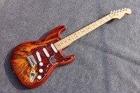 Bị đốt cháy tro gỗ body ST Electric guitar Guitarra Tất Cả Các màu sắc Có Sẵn