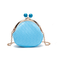 PU Leather Children Coin Purse Princess Mini Chain Wallet Bag Small Money Pouch Carteira Feminina For