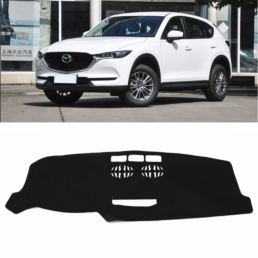 JY Car Dash Mat DashMat Cover Dashboard Car <font><b>Interior</b></font> Pad <font><b>Accessories</b></font> Protection Fit For <font><b>MAZDA</b></font> <font><b>CX</b></font>-<font><b>5</b></font> KF 2017 <font><b>2018</b></font> image
